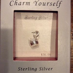 NWT ~ Sterling Silver Princess Tiara Charm 💕
